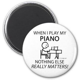 Piano Nothing Else Matters 6 Cm Round Magnet