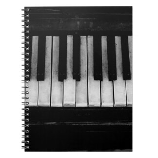 Piano Old Grand Piano Keyboard Instrument Music Spiral Notebook