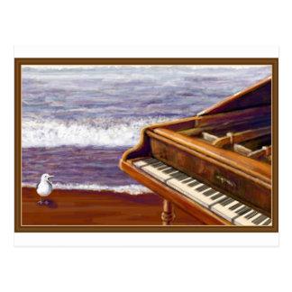 Piano on a Beach Postcard
