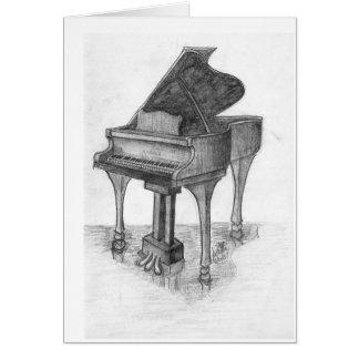 Piano on Stage Card