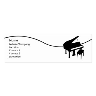 Piano Pack Of Skinny Business Cards