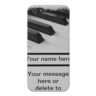 piano pianist musician key customize your own name iPhone 5/5S covers