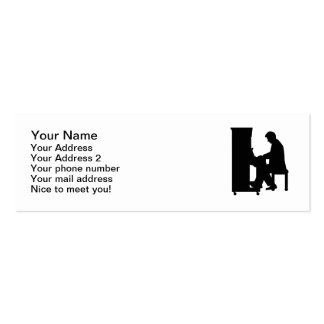 Piano player business card template