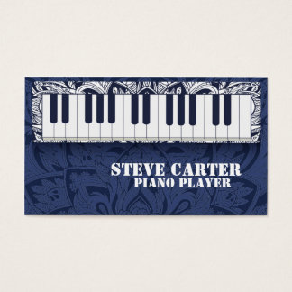 Piano Player Teacher Music School Artist Card