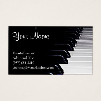 Piano Player - Teacher -Songwriter - Band Business Card