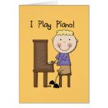 Piano Player Tshirts and Gifts Greeting Card