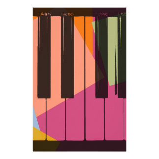 Piano Pop Art Personalized Stationery