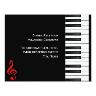 Piano Reception Card