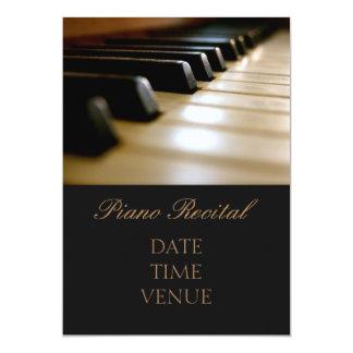 Piano Recital elegant stylish performance Card