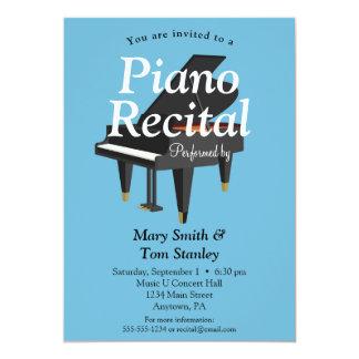 Piano Recital Invitation Music Concert