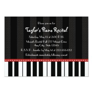 Piano Recital Invitations Invites