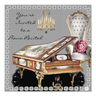 Piano Recital Vintage Style Card