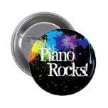 Piano, Rocks! 6 Cm Round Badge