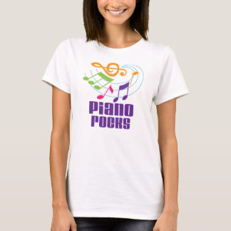 Piano Rocks Teacher Gift T-Shirt