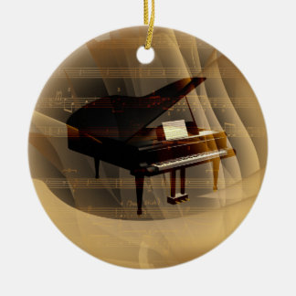 piano round ceramic decoration