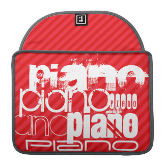 Piano; Scarlet Red Stripes Sleeves For MacBook Pro