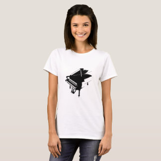 Piano Silhouette White T-Shirt