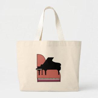 piano silouhette design jumbo tote bag