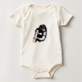 Piano Singer Baby Bodysuit