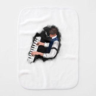 Piano Singer Baby Burp Cloths