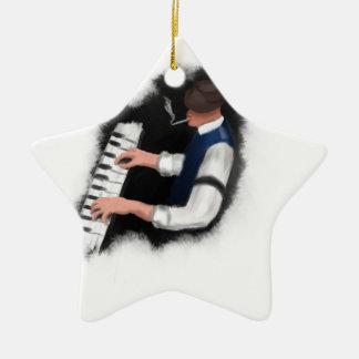 Piano Singer Ceramic Ornament