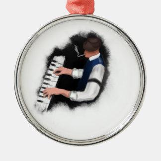 Piano Singer Metal Ornament