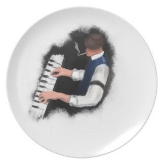 Piano Singer Plate