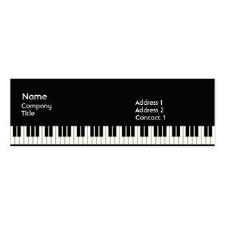 Piano - Skinny Business Card Templates