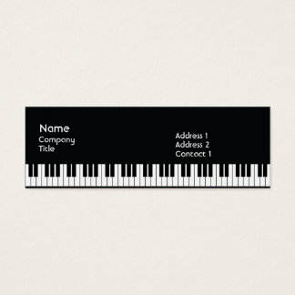 Piano - Skinny Mini Business Card