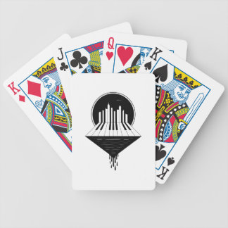 Piano Skyline Bicycle Playing Cards