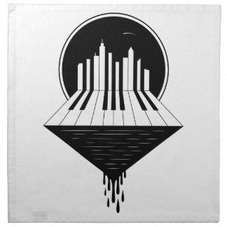 Piano Skyline Napkin