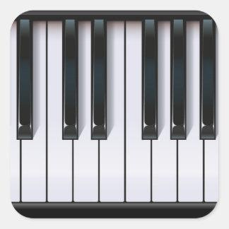 Piano Square Sticker