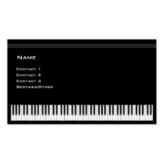 Piano Teacher Double-Sided Standard Business Cards (Pack Of 100)