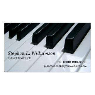 Piano Teacher Pack Of Standard Business Cards