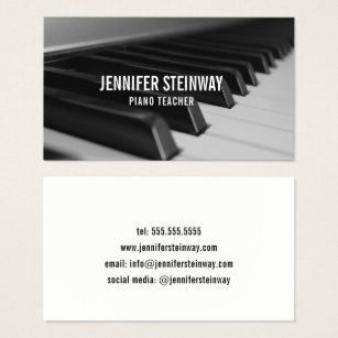 Professional piano business cards business card printing zazzle piano teacher pianist business card colourmoves