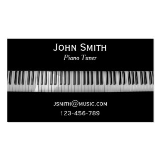 Piano Tuner freelance music professional Business Card Template