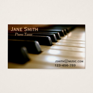Piano Tuner freelance music professional Business Card