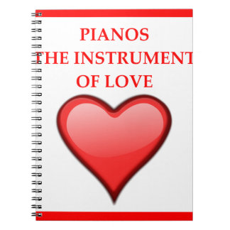 PIANOS NOTE BOOKS
