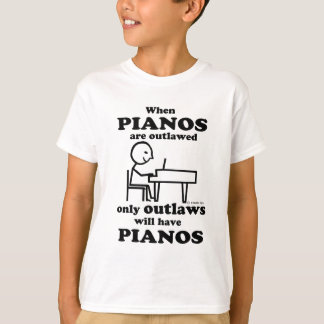Pianos Outlawed Tee Shirt
