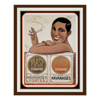 Piast Havanaises Vintage Ad Poster 12 x 16