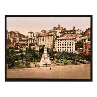 Piazza Acqua Verde (Green Water Place), Genoa, Ita Postcard
