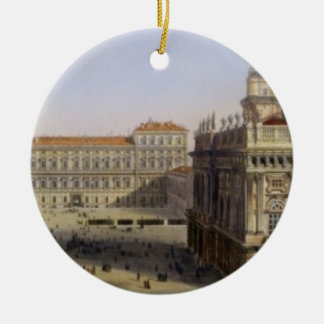 Piazza Castello, Turin, engraved by F. Citterio (c Ceramic Ornament