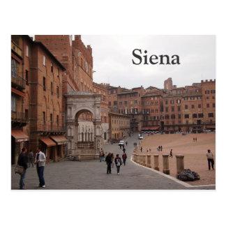 Piazza del Campo, Siena text postcard