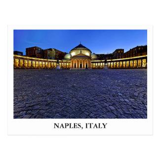 Piazza del Plebiscito in Naples, Italy Postcard