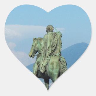 Piazza del Plebiscito, Naples Heart Sticker