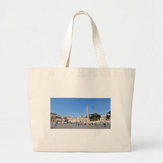 Piazza del Popolo, Rome, Italy Large Tote Bag