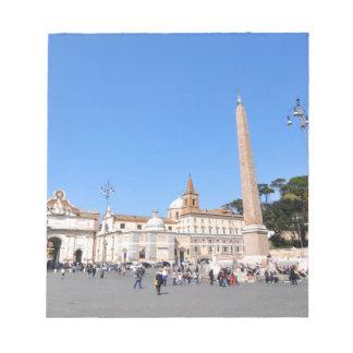 Piazza del Popolo, Rome, Italy Notepad