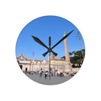 Piazza del Popolo, Rome, Italy Round Clock