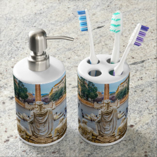Piazza del Popolo, Rome, Italy Soap Dispenser And Toothbrush Holder