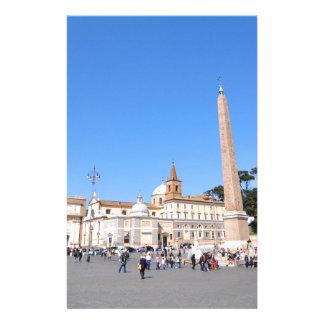 Piazza del Popolo, Rome, Italy Stationery